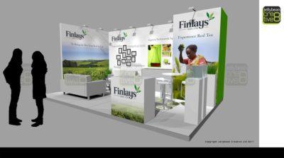 Drinktec trade fair exhibition stand design Finlays Tea