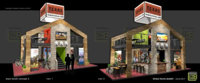Exhibition design mezzanine stand World Travel Market London Texas