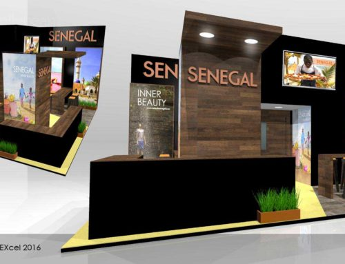 Senegal Tourism & Leisure – Exhibition stand booth design World Travel Market WTM London Excel