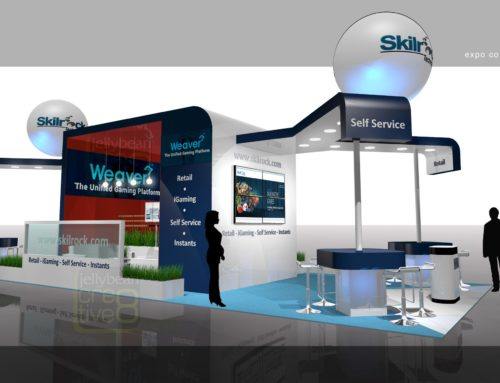 SkillRock On-Gaming Developer – Exhibition Stand Design ICE Gaming Show London