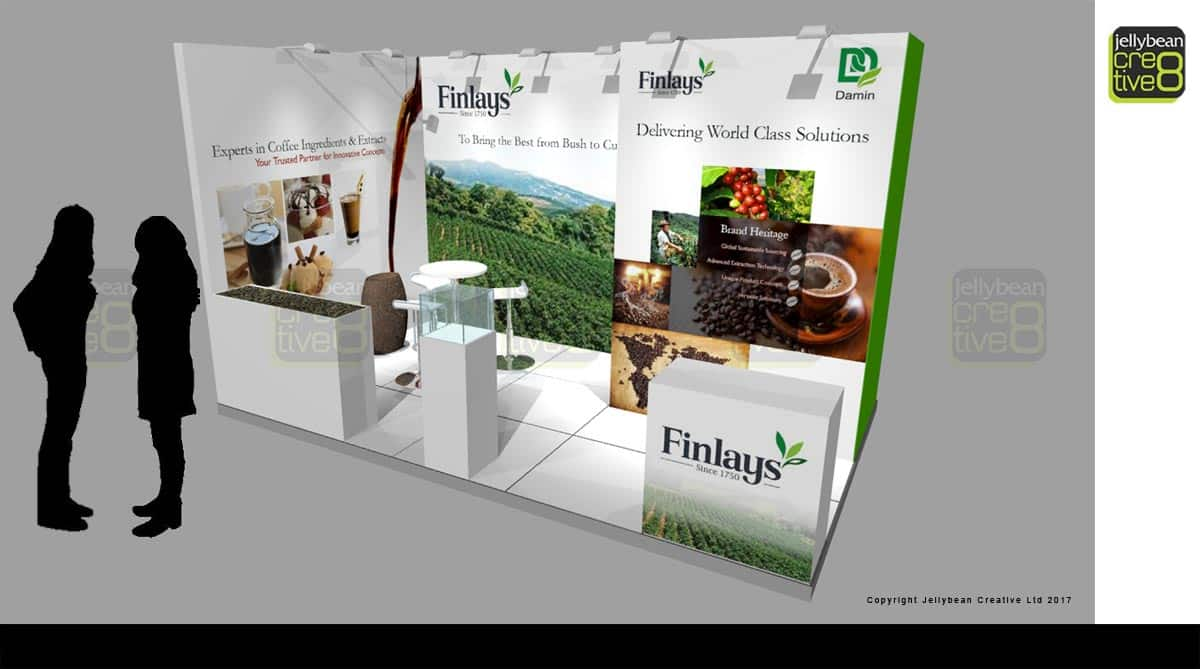 Exhibition tender Finlays Coffee Booth Drinktec Munich