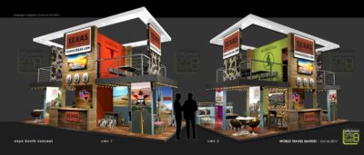 Exhibition booth designs World Travel market London