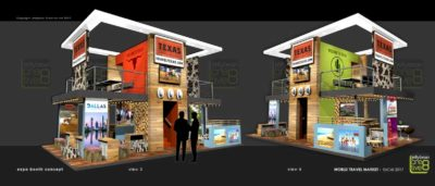 World Travel market Texas Tourism Exhibition Booth Designs