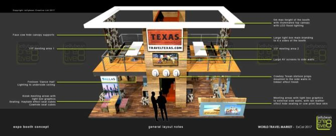 Exhibition Booth Designs Texas Tourism WTM London