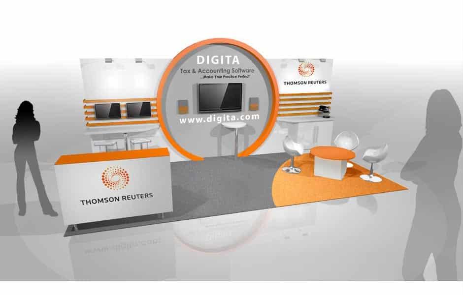 Accountex Thomson Reuters exhibition stand design