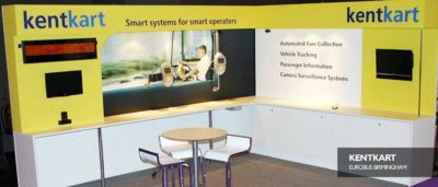Exhibition stand booth Kentkart Eurobus