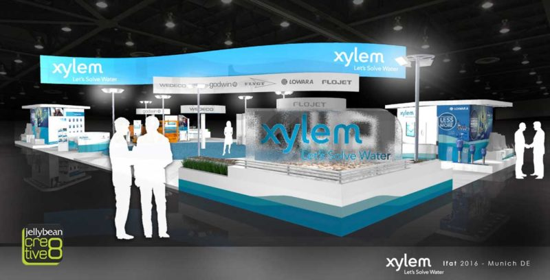 Ifat exhibition stand design Xylem Water