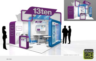 Exhibition stand design for 13ten parcels