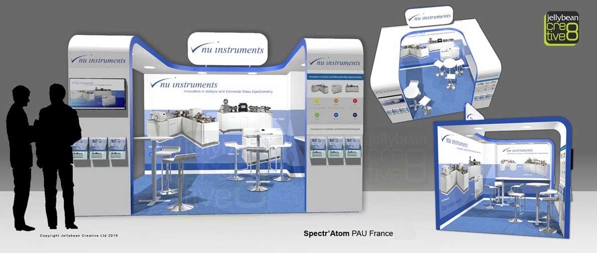 Exhibition Stand Builders France : Nu instruments exhibition design spectr atom pau paris