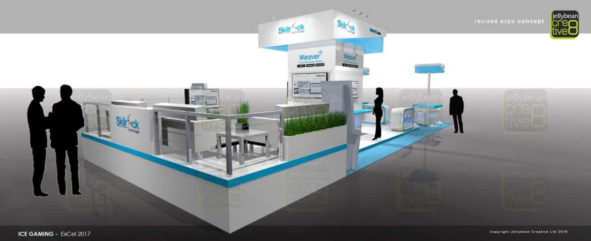 Exhibition Stand Builders London : Ice totally gaming exhibition stand design skillrock excel