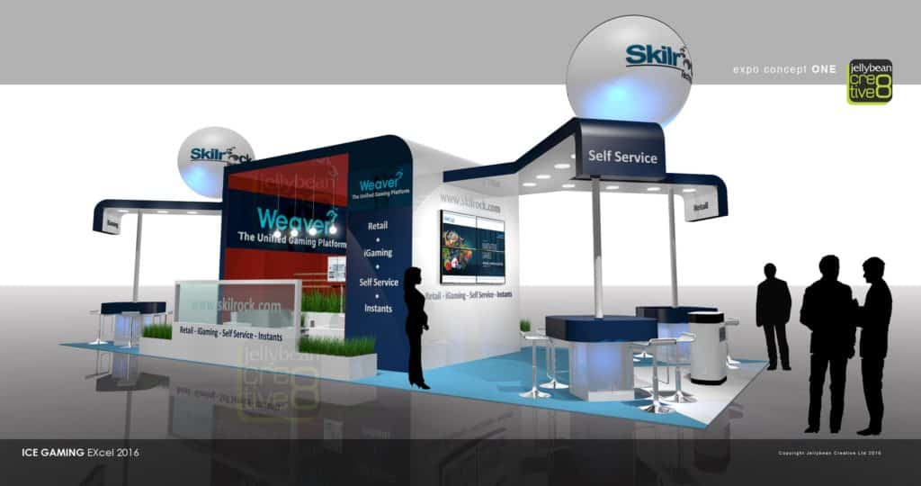 Exhibition Stand Design Companies London : Skillrock on gaming developer exhibition stand design