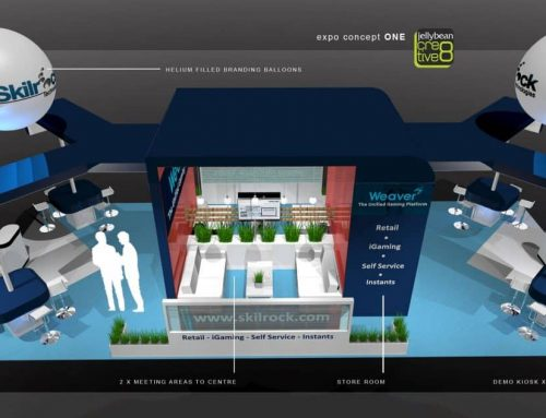 SkillRock Online Gaming – Exhibition Stand Design Ice Totally Gaming London ExCel