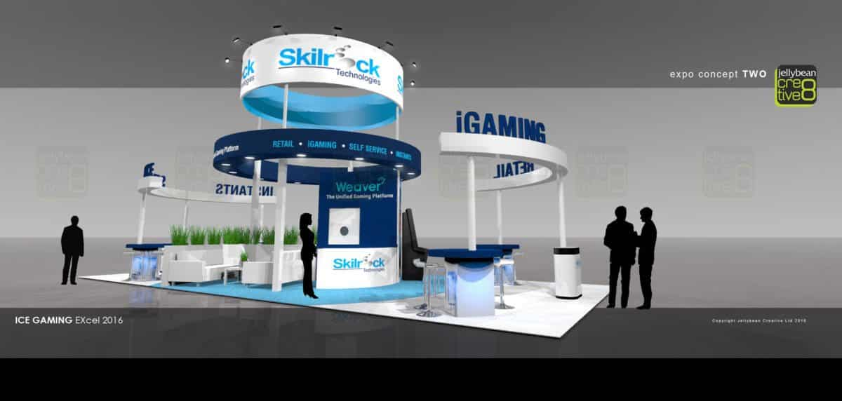 Exhibition design build service Skillrock Ice Totally Gaming London