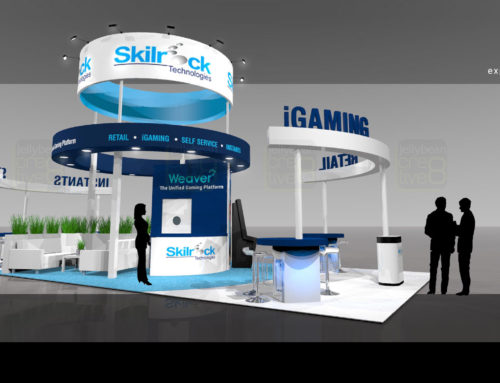 Ice Totally Gaming – Exhibition Tradeshow stand designs for SkillRock online Gaming developer