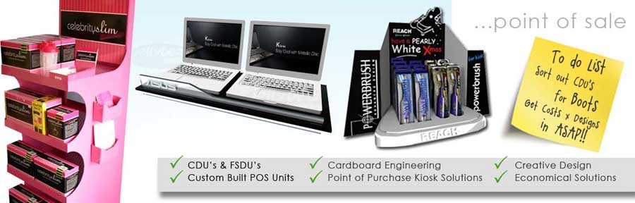 Point of Sale POS FSDU's CDU's designers