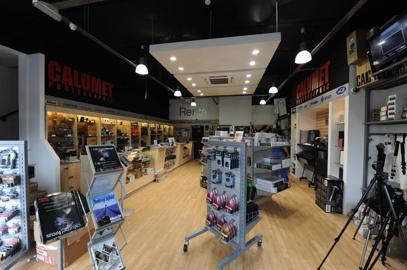 Retail interior design shopfitting Calumet Photographic Belfast