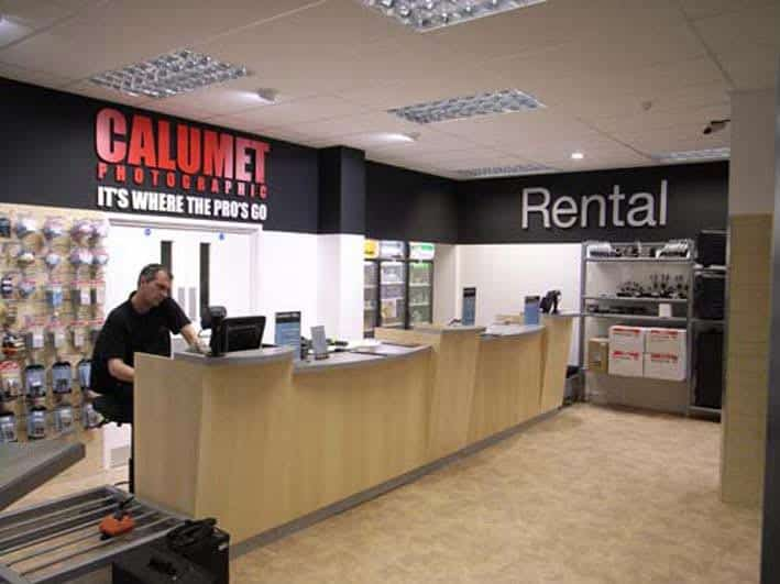 Calumet Photographic Shopfitting Retail Interior design