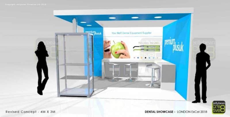 Dental showcase stall design ExCel London UK