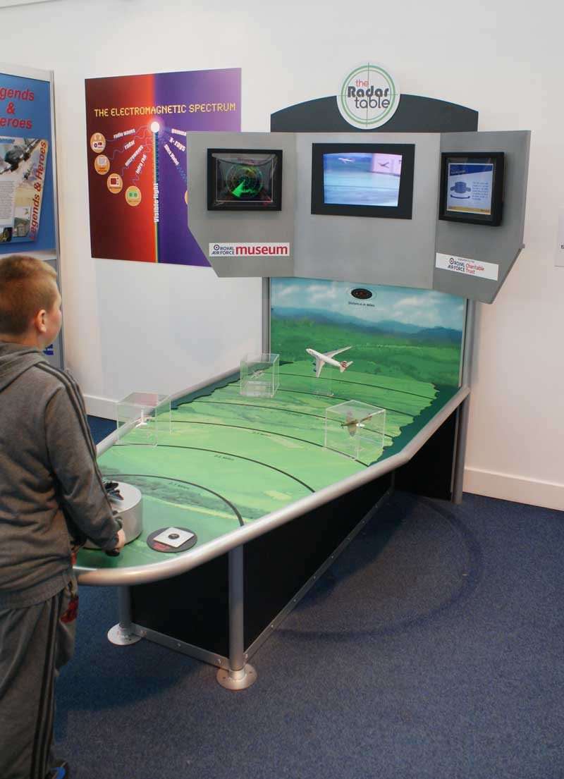 Museum interactive displays. Radar Table