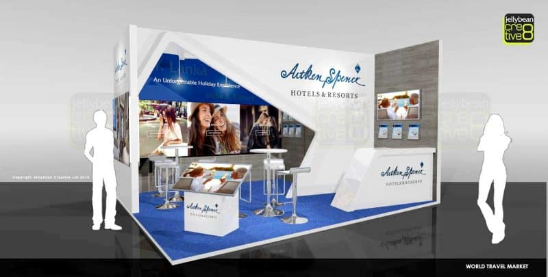 Bespoke exhibition stand design for Aitken Spence Resorts WTM UK
