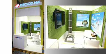 Custom exhibition stand design Kepco NR