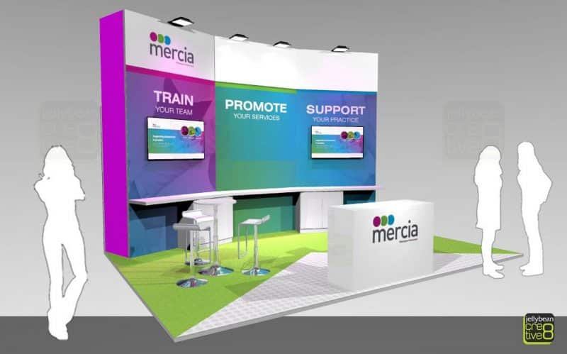 SITS Conference Booth Design Proposal for Mercia Group exhibiting at NEC Birmingham